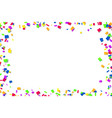 falling confetti isolated white background vector image