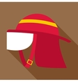 Firefighter helmet icon flat style vector image