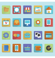 Flat icons for web design - part 1 vector image vector image