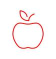 flat line apple icon vector image