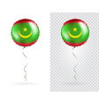 foil balloons in national flag mauritania vector image vector image