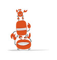 funny friends crabs sketch for your design vector image vector image