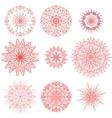 geometric chrysanthemums set vector image vector image