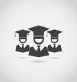 Graduation Icon Set vector image vector image
