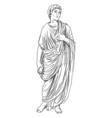 greek men vector image