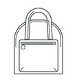 hand bag with handle and zipper pocket linear icon vector image