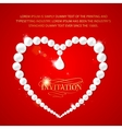 Heart frame with perls vector image