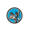 Hornet Baseball Player Batting Circle Retro vector image vector image
