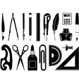 icons of office tool vector image