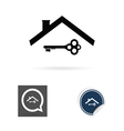 key and roof vector image vector image