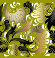leafy baroque seamless pattern vector image