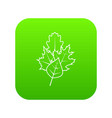leaves icon digital green vector image