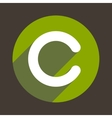 Letter C Logo Flat Icon Style vector image vector image