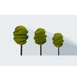 low-poly three tree vector image