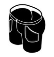 man jeans icon simple style vector image vector image