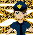 manga police girl vector image