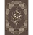 menu brown vector image vector image