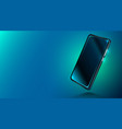 modern smartphone on dark blue background vector image vector image
