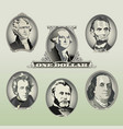 money Oval Presidents vector image vector image