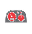 motorcycle dashboard icon on white background for vector image