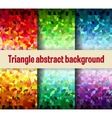 Multicolor triangular vector image vector image