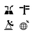 navigation simple related icons vector image