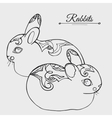 Rabbits sketch vector image vector image
