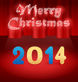 red background 2014 on stage vector image vector image