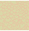 Retro Valentine seamless pattern vector image vector image