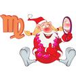 Santa Claus Astrological Sign in Zodiac Virgo vector image