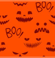 seamless pattern teeth smiling pumpkin vector image vector image