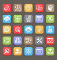 SEO and Development icons for web mobile vector image vector image