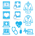 Set icons medical web vector image vector image