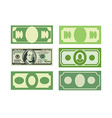 Set Money icon dollars cash Various paper money vector image