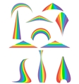 Set of 12 rainbow vector image
