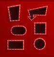 set retro red blank frames vector image vector image