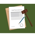 Signing agreement letter of legal transcriptionist vector image vector image