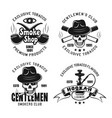 smoking club hookah lounge emblems vector image vector image