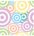 Spiral circles fabric pattern vector image