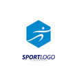 sport symbol design fitness people icon logo vector image vector image