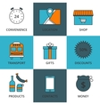 Stock Linear icon Store vector image vector image