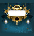 symmetrical steampunk banner vector image vector image