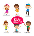 teen preteen kids cartoon characters vector image vector image