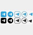 telegram icon or logo vector image