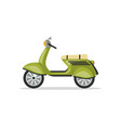 urban motorcycle isolated icon vector image vector image
