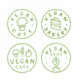 Vegan round badges vector image vector image