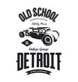 vintage hot rod vehicle logo vector image vector image