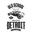 vintage hot rod vehicle logo vector image vector image