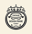 vintage luxury black ornamental frame template vector image