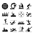 Water Sports Icons Black vector image vector image